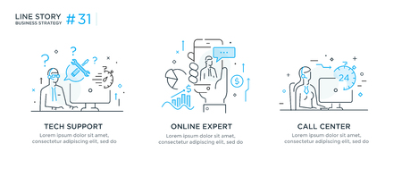 Set of illustrations concept with business concept. Workflow, growth, graphics. Business development, milestones, start-up. linear illustration Icons infographics. Landing page site print poster. Eps vector. Line story