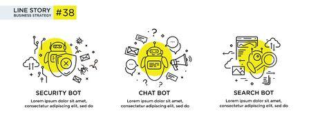 Set of illustrations concept with businessmen. Foto de archivo - 134555701