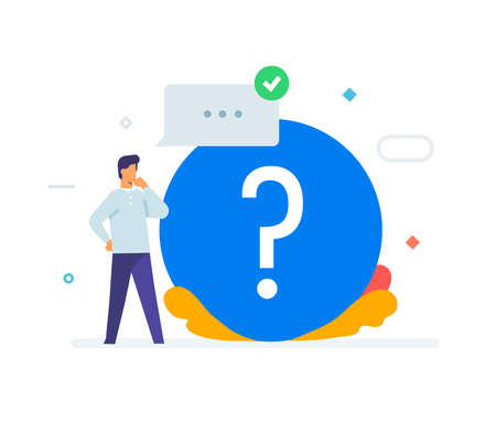 person asks questions icon icon, illustration. Smartphones tablets user interface social media.Flat illustration Icons infographics. Landing page site print poster. Eps vector.