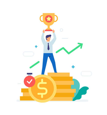 earnings withdrawal of funds icon, illustration. User interface, social media.Flat illustration Icons infographics. Landing page site print poster. Eps vector. Ilustração
