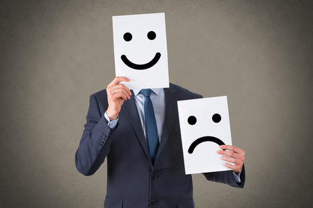 Human Unhappy and Happy Smileys
