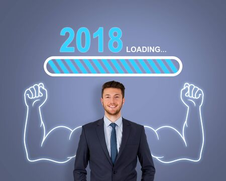 Loading New Year 2018 on Touch Screen