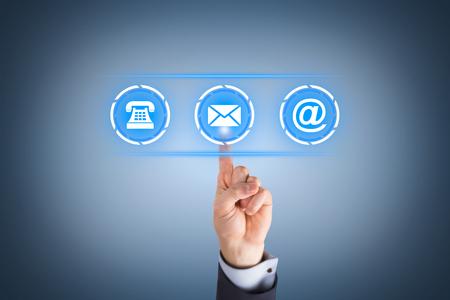Contact Us on Social Media Visual Screen