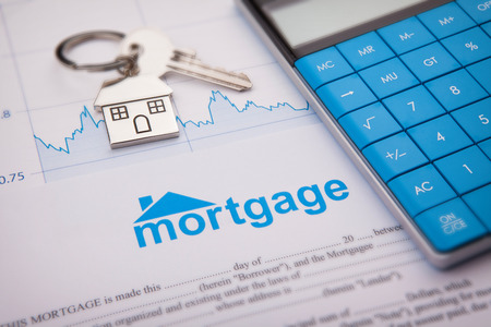 An empty mortgage application form Imagens