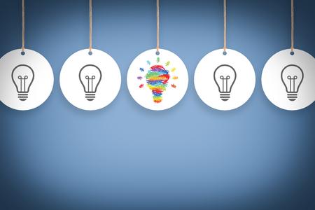 Creative Idea concept Banco de Imagens