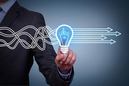 Innovative idea solution concepts Фото со стока