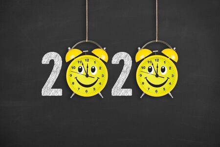 Happy New Year Concepts 2020 Countdown Stock Photo