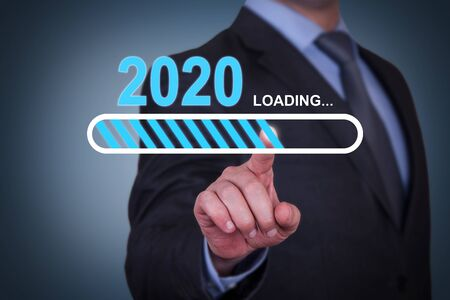 Loading New Year 2020 on Visual Screen