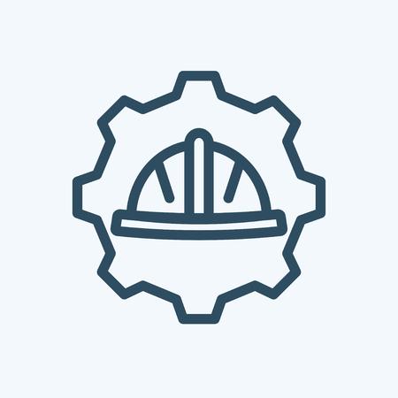 architect tools: Logo for labor day Illustration