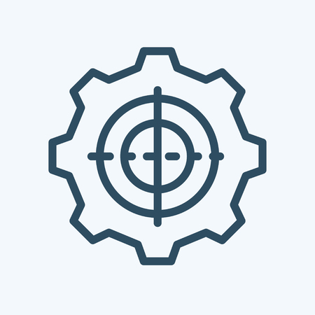 symbol settings. cogwheel. Gear with sparks mechanism of wheel