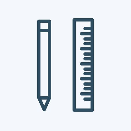 pencil and ruler vector vector illustration