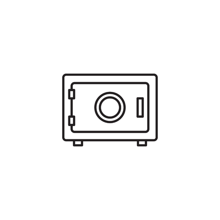 Simple line icon of safe box