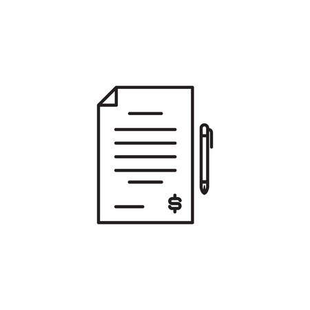 Simple line icon of contract