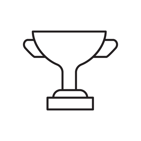 Award line icon of cup. Celebration championship thin sign.
