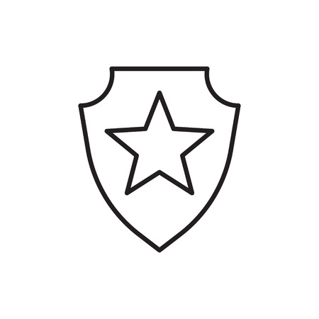 Line icon of honor shield. Illusztráció