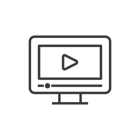 Pictogram online video icon