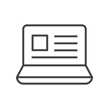 icon of notebook with e-learning book