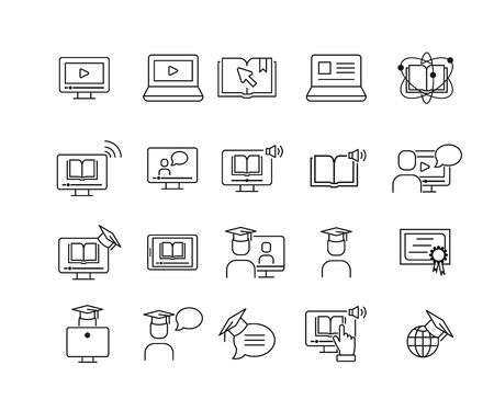 Simple Set Of Online Education Related Vector Line icon