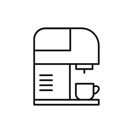 Coffee machine linear icon vector illustration