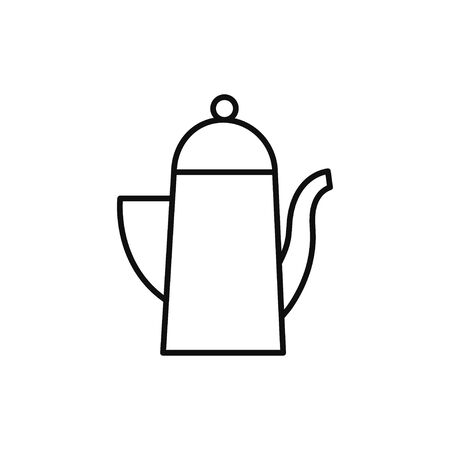 Teapot line icon vector illustration