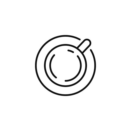 Tea cup line icon vector illustration