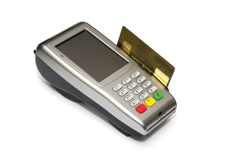 Device attached to your credit card gold card photo