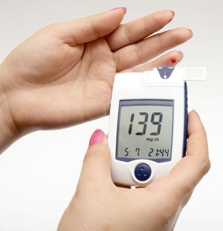 metro de medir: Medición de azúcar en la sangre