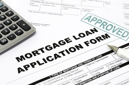 Mortgage loan application form photo