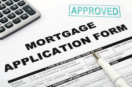 mortgage document: Mortgage Stock Photo