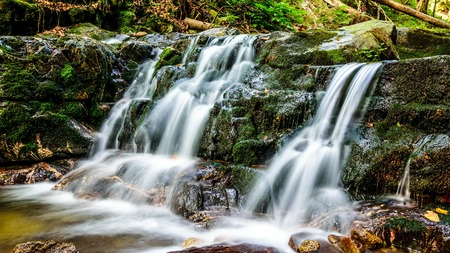 mala fatra: Ferrata FRS - water cascades, falls and climbing rocks in Mala Fatra, Martin, Slovakia