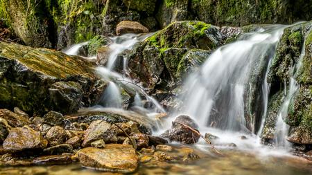 mala fatra: water cascades, waterfalls and climbing rocks in Mala Fatra Ferrata FRS, Martin, Slovakia