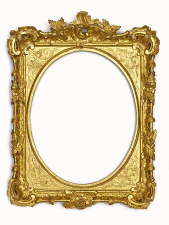 The isolated gold old frame Stock Photo - 4649069