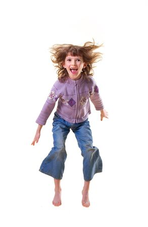 The girl in a jump photo