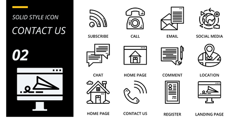 outline icon pack for designers and developers. Icons for social media, social network, communication,contact us, digital marketing, for websites and mobile websites and apps. Illustration