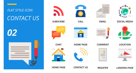 flat icon pack for designers and developers. Icons for social media, social network, communication,contact us, digital marketing, for websites and mobile websites and apps.