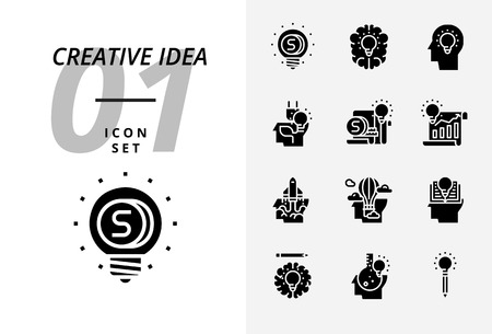 Icon pack for creative idea, Money, brainstorm idea creative