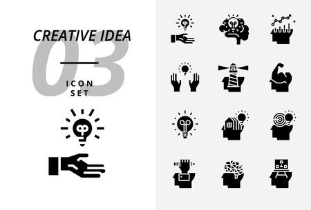 Icon pack for creative idea, brainstorm idea creative