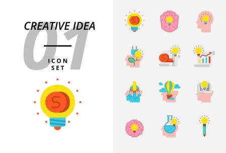 Icon pack for creative idea, Money, brainstorm, idea, creative, ecology, money, business paper, pilot, balloon, rocket, book, education.