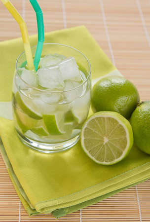 Caipirinha - National Cocktail of Brazil Made with Cachaca, Sugar and Lime Stock Photo