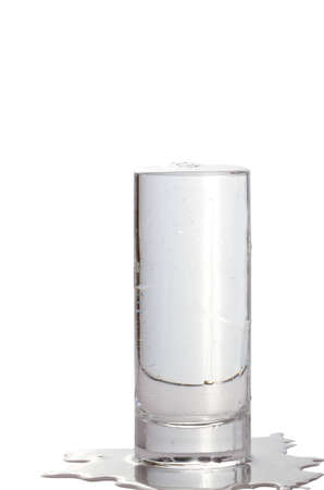 Full glass of water isolated on white   Stock Photo