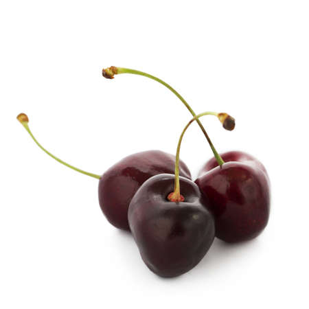 Sweet cherries on white background Stock Photo