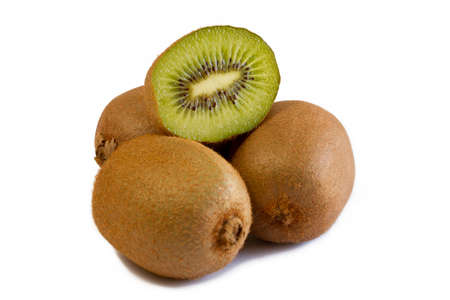 Kiwi fruits isolated on white Stock Photo - 14592286