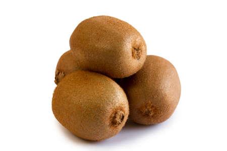 Kiwi fruits isolated on white Stock Photo - 14592287