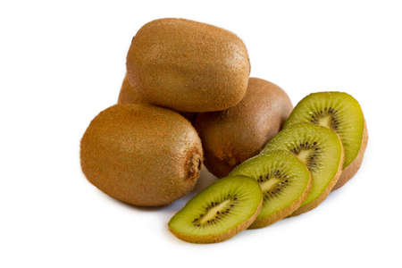 Kiwi fruits isolated on white Stock Photo - 14592285
