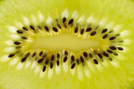 Macro of fresh kiwi fruit Stock Photo - 14592291