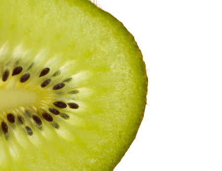 Macro of fresh kiwi fruit, isolated on white Stock Photo - 14592281