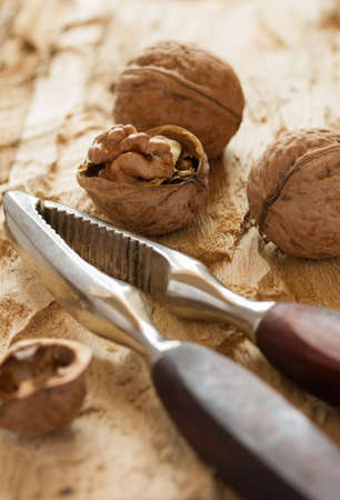 Walnuts with nutcracker  Stock Photo - 16259941