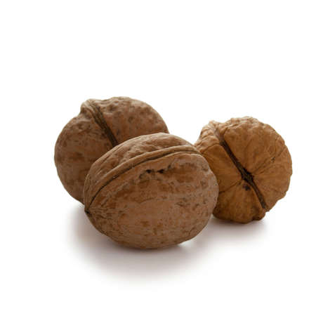 Walnuts isolated with clipping path on white background Stock Photo - 16259889