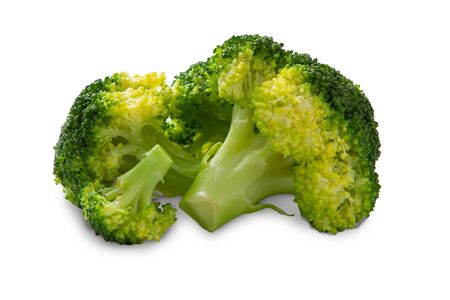 Broccoli isolated with clipping path on white background