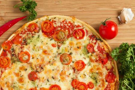 Hot and tasty pizza Stock Photo